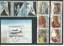 MAURITANIE Scott C202-C205, C206, 500-504 Yvert PA200-PA203, BF31, 491-495 (9+bloc) O Cote 4,50$ 1981-82 - Mauritanie (1960-...)