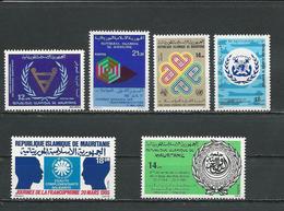 MAURITANIE Scott 486, 513, 532, C218, 578, 579 Yvert 480, 506, 527, PA214, 558, 564 (6) ** Cote 5,00$ 1981-85 - Mauritanie (1960-...)