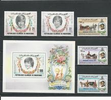 MAURITANIE Scott 515-516, 517, 518-520 Yvert 507-508, BF35, 511-513 (5+bloc) ** Cote 11,00$ 1982 - Mauritanie (1960-...)