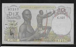 Afrique Occidentale Française - 10 Francs - Pick N°37 - SUP - Banknotes