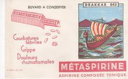 Buvard METASPIRINE DRAKKAR 843 - Chemist's