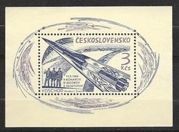 Tchécoslovaquie Bloc Feuillet N° 25 Voskhod I  Fusée Et Cosmonautes Neuf ( * ) TB.. Soldé ! ! ! - Space