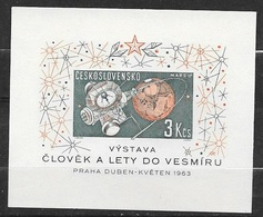 Tchécoslovaquie Bloc Feuillet N° 23 Exposition Cosmos Prague 1962  Mars 1 Neuf ( * ) TB.. Soldé ! ! ! - Space