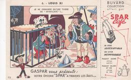 Buvard Café SPAR N° 6 LOUIS XI - Coffee & Tea