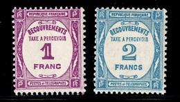 France Timbres Taxe YT N° 59 Et 61 Neufs ** MNH. TB. A Saisir! - 1859-1955 Neufs