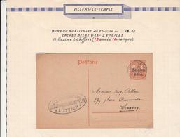 Guerre 1914/18     Gouvernement Général    Villers Le Temple - [OC1/25] Gouv. Gén.
