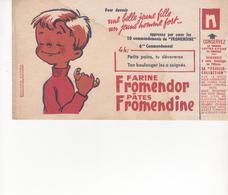 "Buvard Farine FROMENDOR 4 Heures "" Legèrement Taché "" - Food"