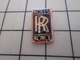 Pin813F Pin's Pins / Beau Et Rare / AUTOMOBILE : LOGO DE LA MARQUE ROLLS-ROYCE - Other