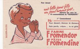 Buvard Farine FROMENDOR 7 Heures  Sans Timbre-lettre - Food