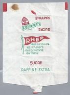 Suikerwikkel. Embalage De Sucre. RHEP. RESTAURATEURS Et HOTELIERS Des EVIRONS De PARIS. LEBAUDY. - Sugars
