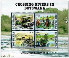 Botswana - 2017 - Crossing River In Botswana - Mint Souvenir Sheet - Botswana (1966-...)