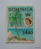 DOMINICA 1968, Coconut Tree Stamp Overprinted 'Associated Statehood', $4.80. SG 231. Used. - Dominica (...-1978)
