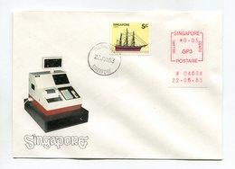 SINGAPORE ATM COVER 1983 PHILATELIE BUREAU - Singapore (1959-...)