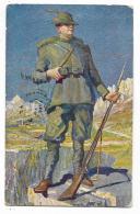 IL GUARDIANO DELLE ALPI DI G.AMISANI 1916  VIAGGIATA FP - Künstlerkarten