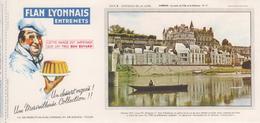 Buvard Flan LYONNAIS Série Chateau De La Loire N° 11 Chateau AMBOISE - Food