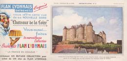 Buvard Flan LYONNAIS Série Chateau De La Loire N° 13 Chateau De LUYNES - Food