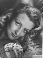 PHOTO   HARCOURT    AUTOGRAPHE   JACQUELINE PLESSES   17 CM SUR 12 CM - Autographes