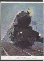 """Pages Ou Documents Extrait D'une Revue / Locomotive à Vapeur """"Le Moutain P.L.M."""" Illustrateur Géo Ham - Collections"""