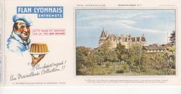 Buvard Flan LYONNAIS Série Chateau De La Loire N° 17 Chateau De LANGEAIS - Food