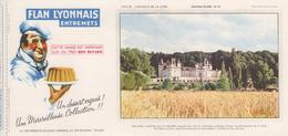 Buvard Flan LYONNAIS Série Chateau De La Loire N° 18 Chateau D'USSE - Food