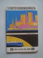 DB. STÄDTEVERBINDUNGEN. WINTER 1966/67 - GERMANY, DEUTSCHLAND. - Transportation Tickets