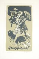 Ex-libris Moderne XXème Illustré -  Allemagne - Epouvantail - Heinz Olbrich ? - Ex-libris