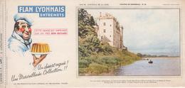 Buvard Flan LYONNAIS Série Chateau De La Loire N° 20 Chateau De MONSOREAU - Food