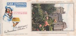 Buvard Flan LYONNAIS Série Chateau De La Loire N° 21 Chateau De MONTREUIL-BELLAY - Food