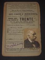 Carte D'identité Réduction TRENTE% Chemins De Fer PLM Etc - à César Seguin Avignon 1927 Famille Nombreuse - Biglietti Di Trasporto