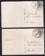 CATALOGUE COBA - 2 X LEERS-NORD T4R13 ---- Sur ARMOIRIES - RARE ! - Postmark Collection