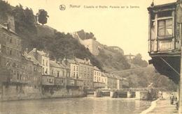 Belgique - Namur - Citadelle Et Vieilles Maisons Sur La Sambre - Indicateur Roman - Ecrite, Timbrée - 5828 - Namur