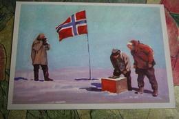 Roald Amundsen (explorer) In Antarctica , Geographical Discoveries  - OLD USSR PC 1979 - Photographer Camera - Postcards