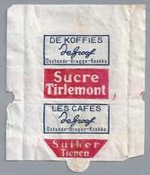 Suikerwikkel. Embalage De Sucre. DE KOFFIES - DeGroof - De Groof - Ostende - Bruges - Knokke. Sucre Tirlemont. Tienen. - Sugars