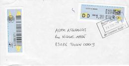 Enveloppe Lettre Suivie CAYENNE BADUEL (Période Ciappa) - Marcophilie (Lettres)
