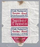 Embalage De Sucre. Café Restaurant - Rooden Hoed - Antwerpen. Sucre Tirlemont. Suiker Tienen. Oude Koornmarkt 25 - Sugars