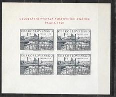 Tchécoslovaquie Bloc Feuillet N°15  Exposition Philatélique De Prague 1950  Neuf ( * )  TB  Soldé   ! ! ! - Expositions Philatéliques