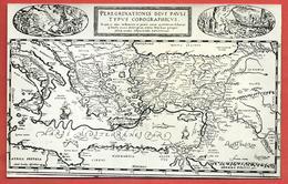 CARTOLINA NV ITALIA - Peregrinationis Divi Pauli Typus Corographicus - 9 X 14 - Carte Geografiche