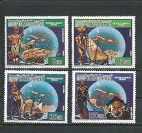 MAURITANIE Scott 604-607 Yvert 587-589, PA245 (4) ** Cote 7,75$ 1986 - Mauritanie (1960-...)
