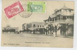 AFRIQUE - DJIBOUTI - Place Ménélik - Dahomey