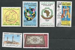 MAURITANIE Scott 629, 630, 639, 642, 644, 646 Yvert 601, 607, 611, 624, 628, 630 (6) ** Cote 8,20$ 1988-9 - Mauritanie (1960-...)