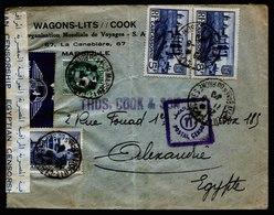 A5378) Frankreich France Brief 11.6.40 N. Alexandrie / Egypt - Frankreich