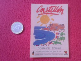 ANTIGUA PEGATINA ADHESIVO STICKER CASTELLÓN COSTA DEL AZAHAR GENERALITAT VALENCIANA SPAIN ESPAÑA VER FOTOS Y DESCRIPCIÓN - Pegatinas