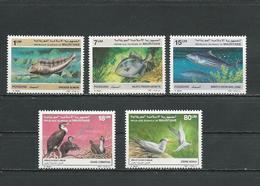 MAURITANIE Scott 631-633, 634-635 Yvert 602-604, 605-606 (5) ** Cote 14,00$ 1988 - Mauritanie (1960-...)