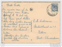 PITTEM ..-- GUIRSCH ..--  Entrée Du Château . Vers PITTEM ( Mr Antonine ) . Voir Verso . - Pittem