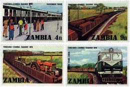 Ref. 60386 * NEW *  - ZAMBIA . 1976. INAUGURATION OF THE ZAMBIA-TANZANIA RAILWAY. INAUGURACION DEL FERROCARRIL ZAMBIA-TA - Zambia (1965-...)