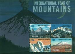 Ref. 297899 * NEW *  - ZAMBIA . 2002. INTERNATIONAL YEAR OF THE MOUNTAIN. AÑO INTERNACIONAL DE LA MONTAÑA - Zambia (1965-...)
