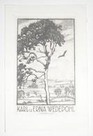 Ex-libris Moderne XXème Illustré -  Allemagne - Karl U Erna WEDEPOHL - Ex Libris