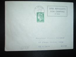 LETTRE TP M.DE CHEFFER 0,30 OBL.MEC.17-10 1972 11 SAISSAC AUDE SITES REPOSANTS SON CAMPING SES TRUITES - Mechanical Postmarks (Advertisement)
