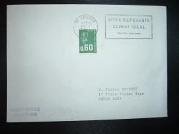 LETTRE TP M.DE BEQUET 0,60 OBL.MEC.22-1 1975 11 SAISSAC AUDE SITES REPOSANTS CLIMAT IDEAL TRUITES SALAISONS - Marcofilie (Brieven)