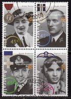 Australia 1995 World War II Heroes II Block Of 4, Used, SG 1545/8 - Usados
